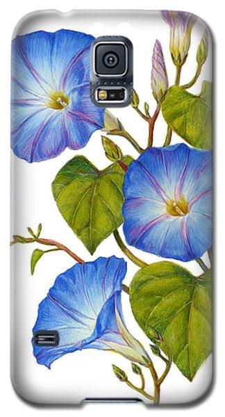 Morning Glories - Ipomoea Tricolor Heavenly Blue Galaxy S5 Case