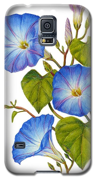 Morning Glories - Ipomoea Tricolor Heavenly Blue Galaxy S5 Case