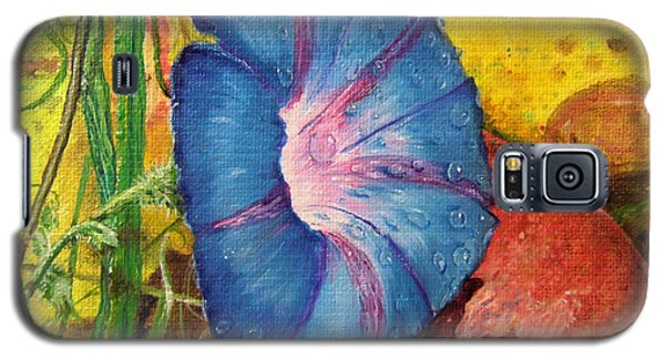 Morning Glory Bloom In Apples Galaxy S5 Case