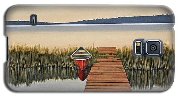 Galaxy S5 Case featuring the painting Morning Has Broken by Kenneth M  Kirsch