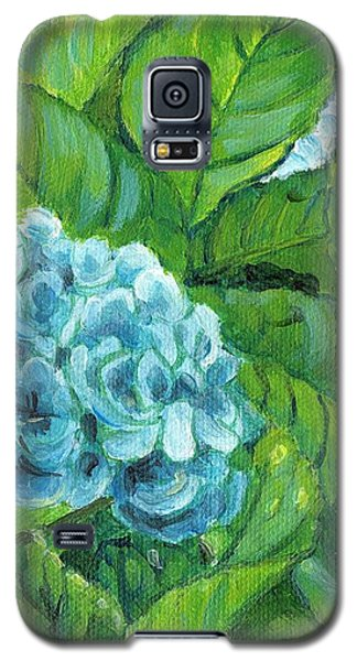 Galaxy S5 Case featuring the painting Morning Hydrangea by Jingfen Hwu