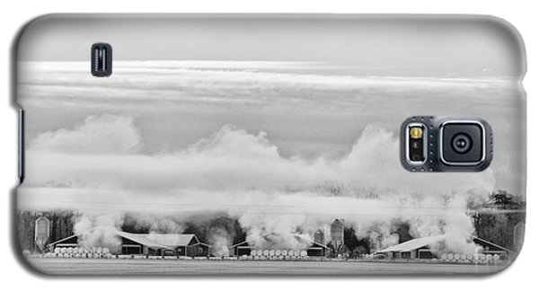 Galaxy S5 Case featuring the photograph Morning In Black An White by Tamera James