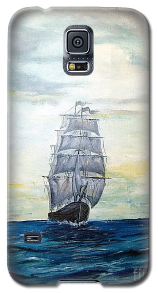 Galaxy S5 Case featuring the painting Morning Light On The Atlantic by Lee Piper