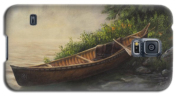 Galaxy S5 Case featuring the painting Morning Mist by Kim Lockman