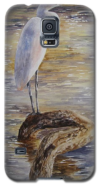 Morning Perch-egret Galaxy S5 Case