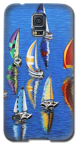 Galaxy S5 Case featuring the painting Morning Reflections by Jane Girardot
