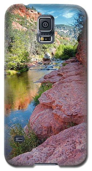 Morning Sun On Oak Creek - Slide Rock State Park Sedona Arizona Galaxy S5 Case