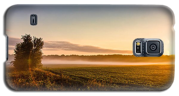 Morning Sun Over Farmland Galaxy S5 Case