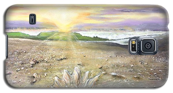 Galaxy S5 Case featuring the painting Morning Treasure by Dawn Harrell