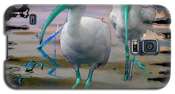 Galaxy S5 Case featuring the photograph Morphed Ibis by Irma BACKELANT GALLERIES