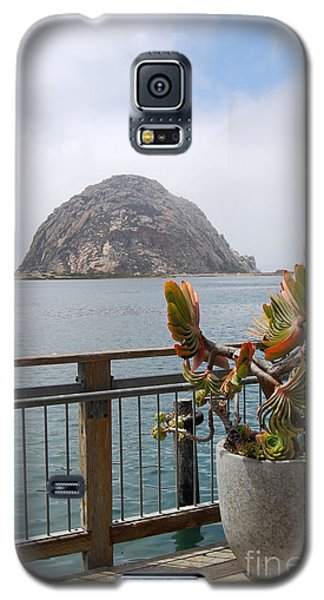 Galaxy S5 Case featuring the photograph Morro Rock At Morro Bay by Debra Thompson