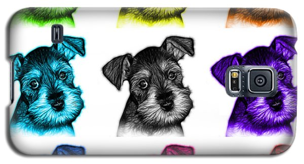 Mosaic Salt And Pepper Schnauzer Puppy 7206 F - Wb Galaxy S5 Case