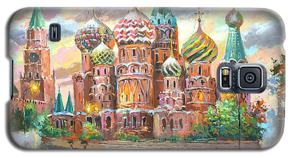 Galaxy S5 Case featuring the painting Moscow by Dmitry Spiros