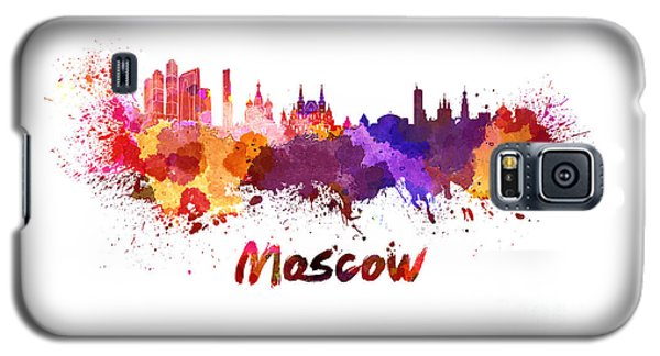 Moscow Skyline In Watercolor Galaxy S5 Case by Pablo Romero
