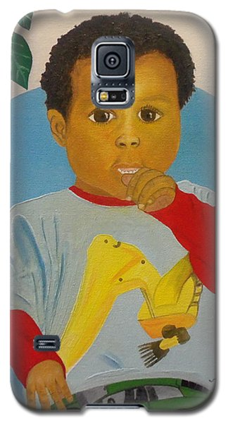 Galaxy S5 Case featuring the painting Mossiah My Grandson by Nicole Jean-Louis