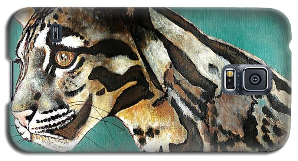 Galaxy S5 Case featuring the painting Most Elegant Leopard by VLee Watson