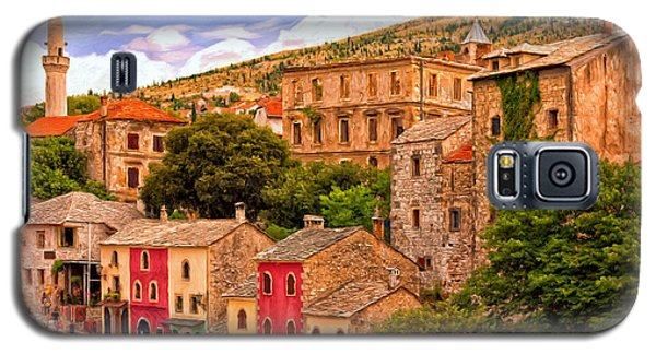 Galaxy S5 Case featuring the painting Mostar by Michael Pickett