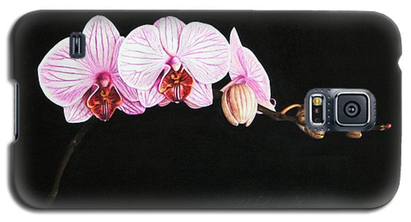 Galaxy S5 Case featuring the drawing Moth Orchid by Marna Edwards Flavell