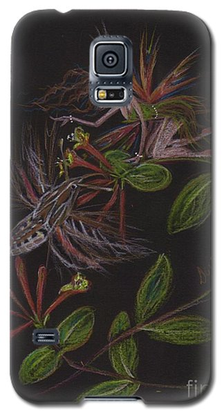 Galaxy S5 Case featuring the drawing Moth Wing Touch by Dawn Fairies