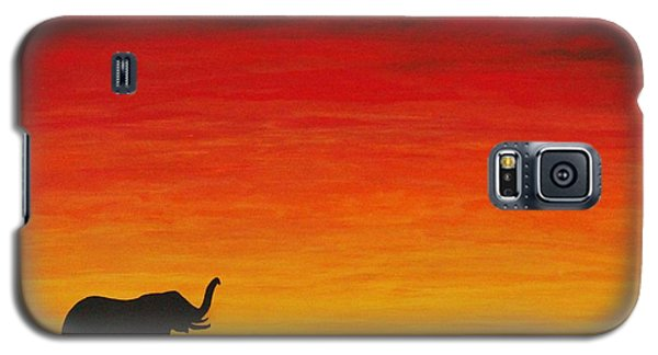 Galaxy S5 Case featuring the painting Mother Africa 1 by Michael Cross