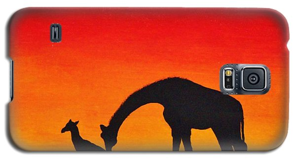 Galaxy S5 Case featuring the painting Mother Africa 2 by Michael Cross