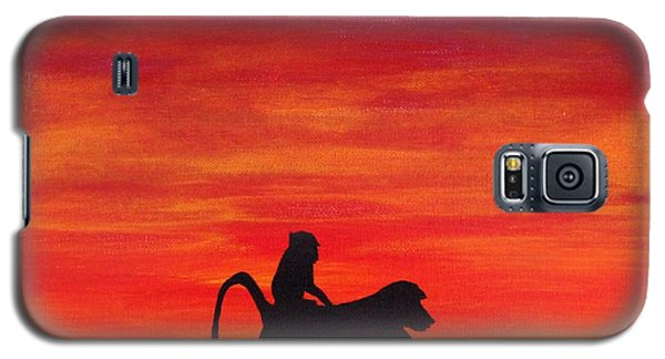 Galaxy S5 Case featuring the painting Mother Africa 4 by Michael Cross