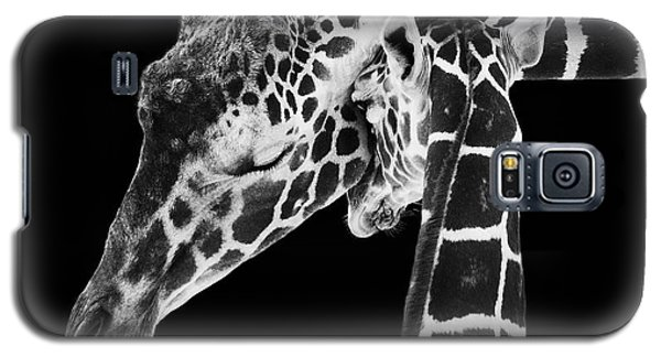 Mother And Baby Giraffe Galaxy S5 Case
