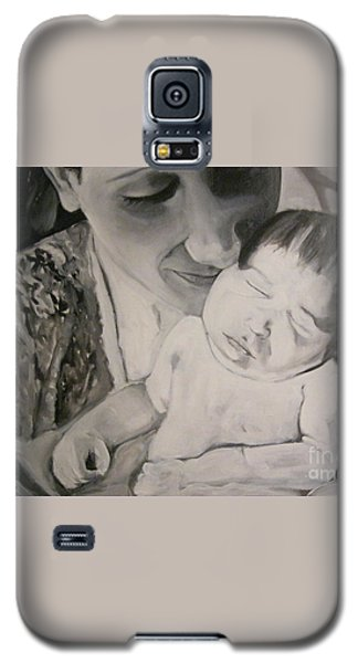 Galaxy S5 Case featuring the painting Mother And Child by Carrie Maurer