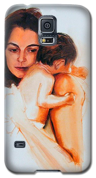 Galaxy S5 Case featuring the painting Mother And Child by Greta Corens