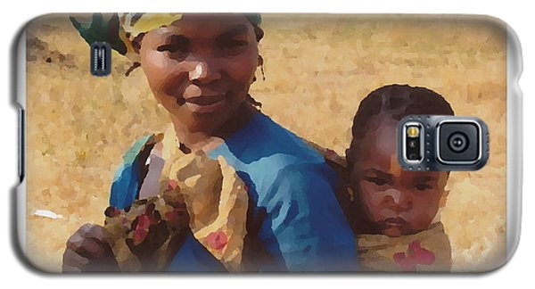Galaxy S5 Case featuring the photograph Mother And Child by Joyce Gebauer