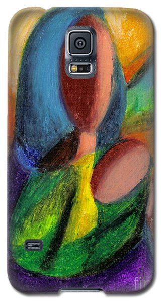 Galaxy S5 Case featuring the pastel Mother And Child by Karen  Ferrand Carroll