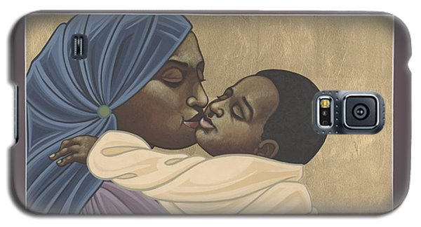 Galaxy S5 Case featuring the painting Mother And Child Of Kibeho 131 by William Hart McNichols