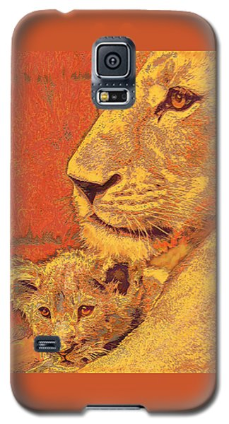 Mother And Cub Galaxy S5 Case by Jane Schnetlage