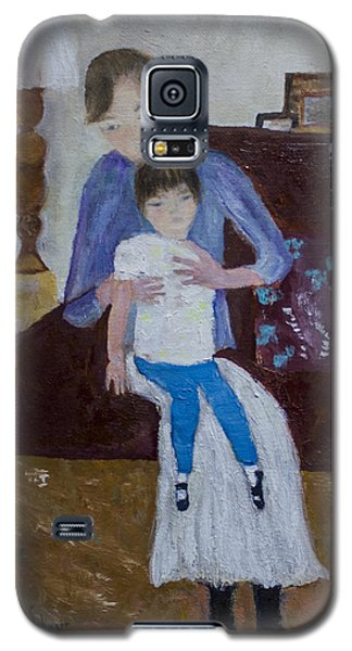 Galaxy S5 Case featuring the painting Mother And Daughter by Aleezah Selinger