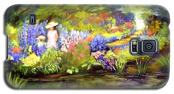 Galaxy S5 Case featuring the painting Mother And Daughter by Gail Kirtz