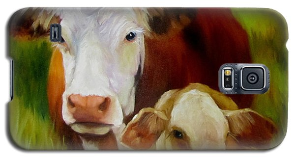 Mother Cow And Baby Calf Galaxy S5 Case
