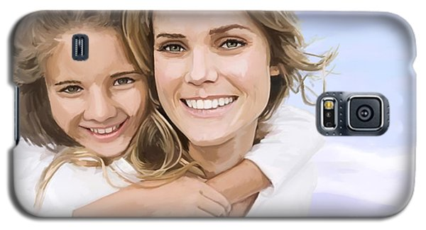 Galaxy S5 Case featuring the painting Mother Daughter Portrait   by Tim Gilliland