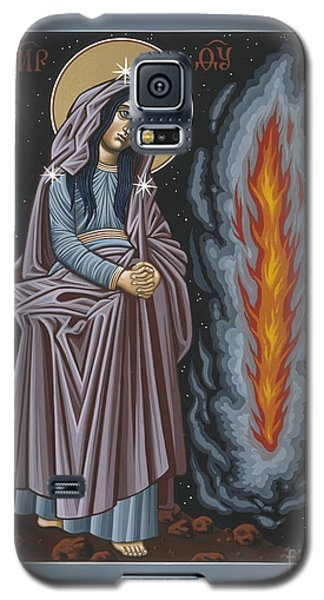 Galaxy S5 Case featuring the painting Mother Of God Of Kosovo 087 by William Hart McNichols