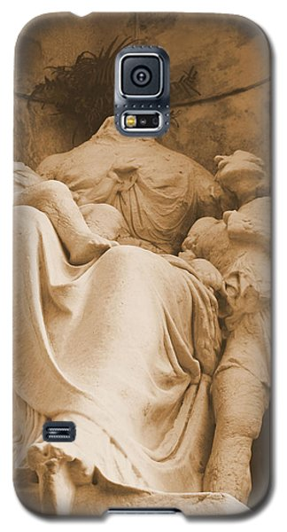Galaxy S5 Case featuring the photograph Mother With Children by Nadalyn Larsen