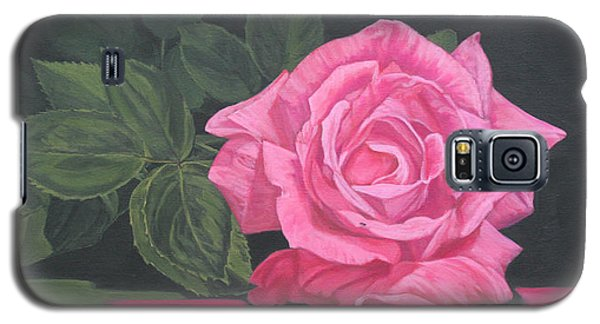 Galaxy S5 Case featuring the painting Mothers Day Rose by Wendy Shoults