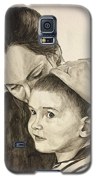 Galaxy S5 Case featuring the painting Mother's Love by Tamir Barkan