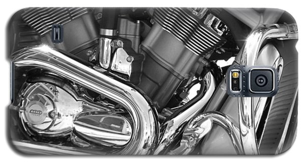 Motorcycle Close-up Bw 1 Galaxy S5 Case
