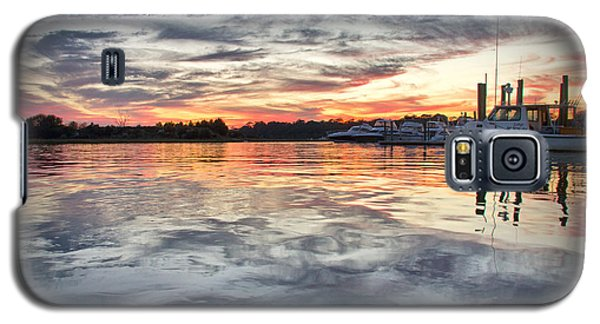 Galaxy S5 Case featuring the photograph Mott's Channel Sunset by Phil Mancuso