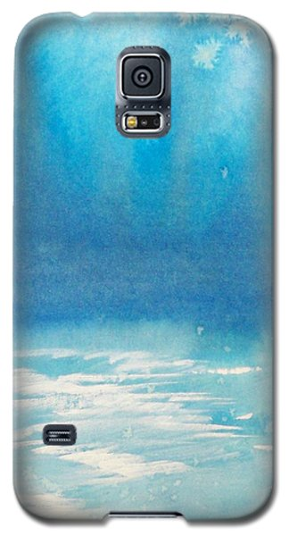 Galaxy S5 Case featuring the painting Motu Ahuna by Ed  Heaton