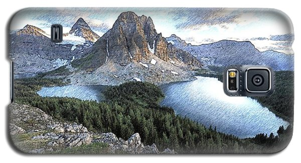 Mount Assiniboine In Pencil Galaxy S5 Case by Maciek Froncisz