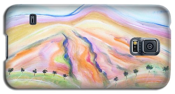 Galaxy S5 Case featuring the painting Mount Diablo by Carol Duarte