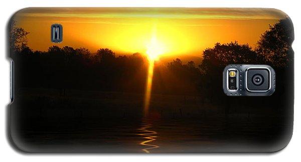 Mount Lassen Sunrise Gold Galaxy S5 Case