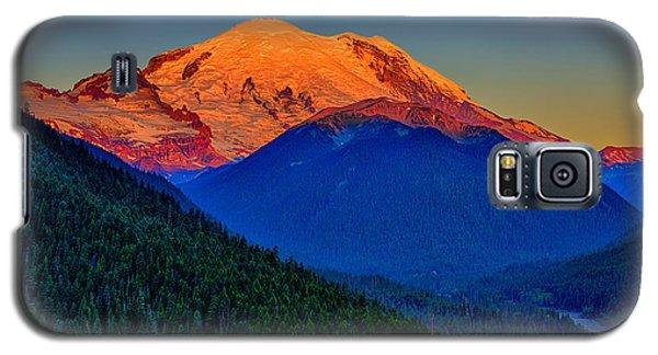 Mount Rainier Alpenglow Galaxy S5 Case