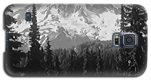Galaxy S5 Case featuring the photograph Mount Rainier by Ann Johndro-Collins