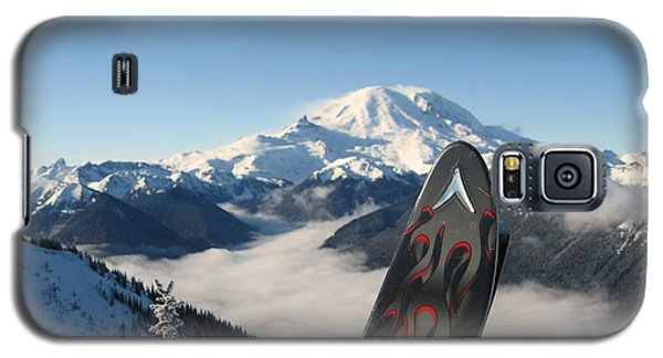 Mount Rainier Has Skis Galaxy S5 Case by Kym Backland